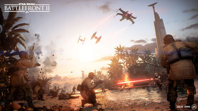 Star Wars Battlefront 2: Scarif update key art