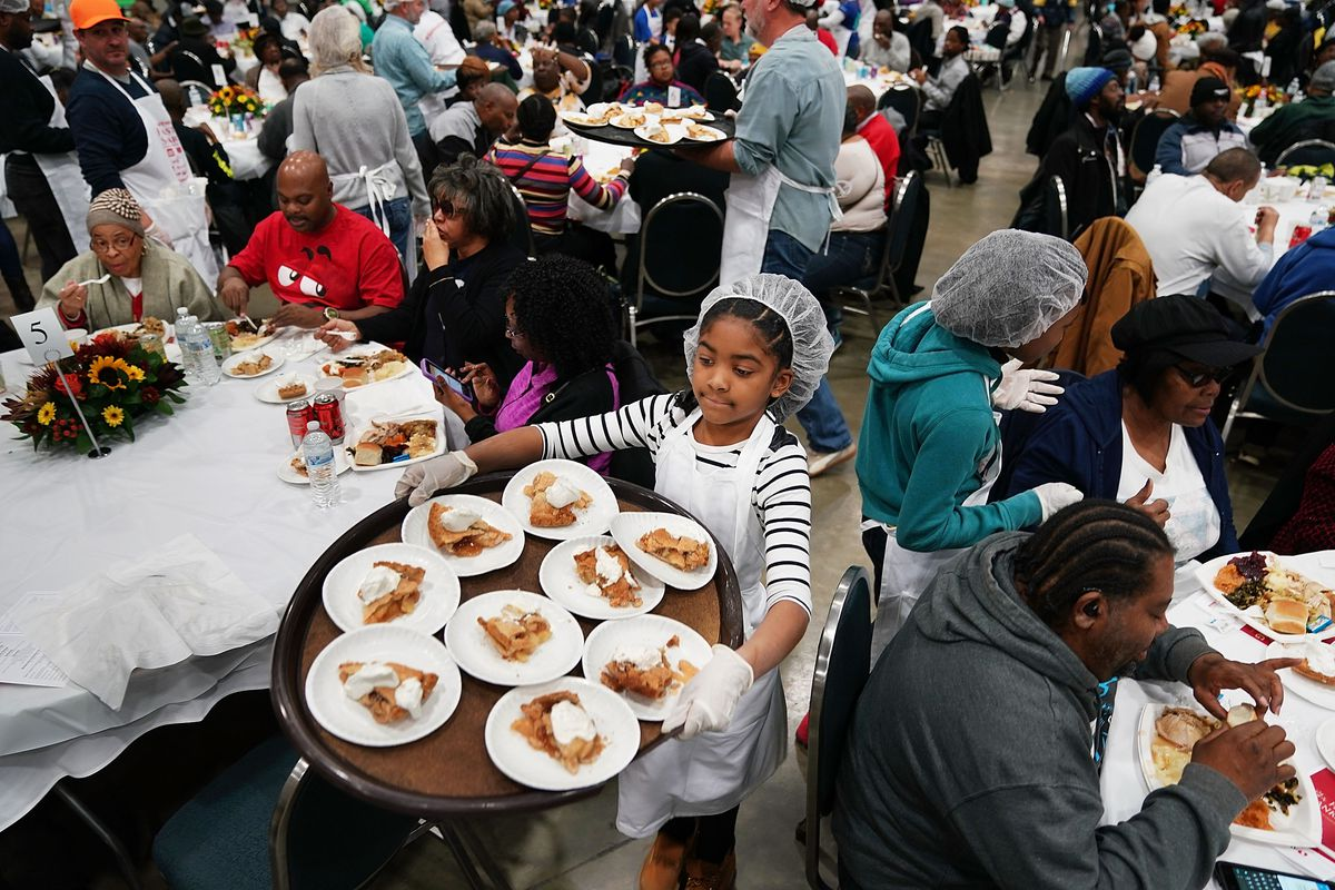 The Salvation Army Hosts Its Annual Feast Of Sharing Day Before Thanksgiving