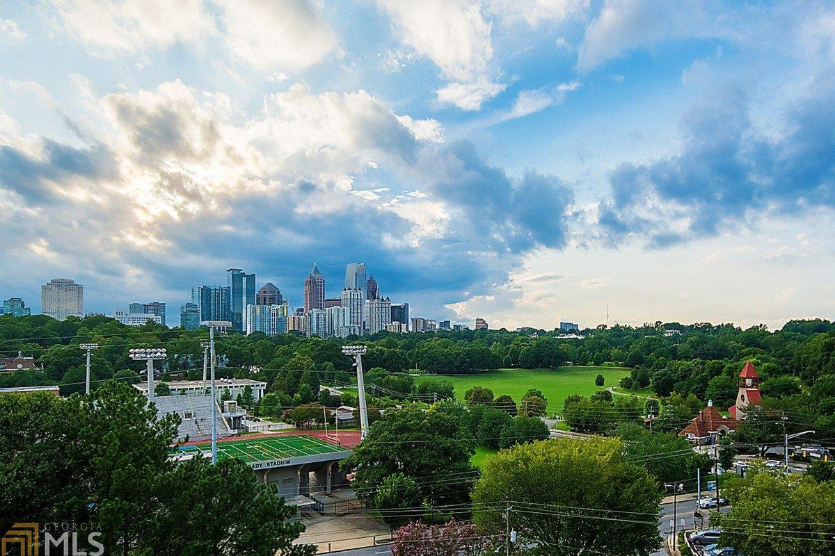 Views from a Midtown Atlanta condo for sale for $339,000.