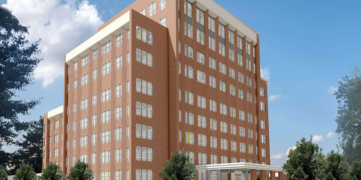 Rendering of senior living conversion at the former Ravenswood Hospital.