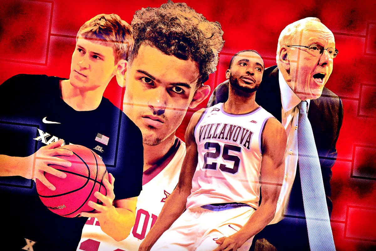 JP Macura Trae Young Mikal Bridges And Jim Boeheim Getty Images Ringer Illustration