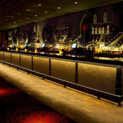 One of the 100-foot bars at Light Nightclub.