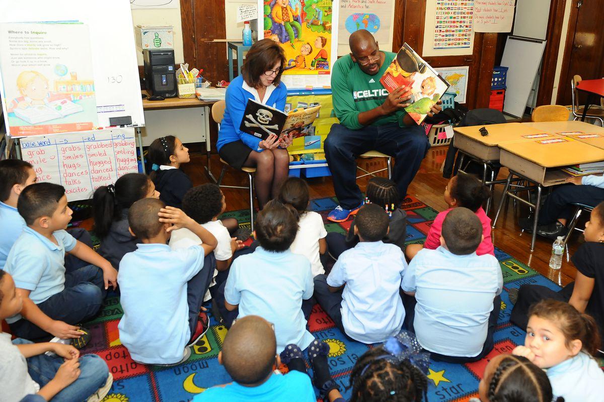 Boston Celtics Day of Volunteerism at Ellis Elementary School