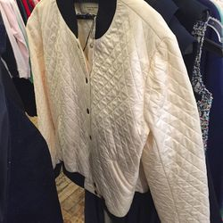 Quilted Maison Kitsuné teddy, $275 (was $750)