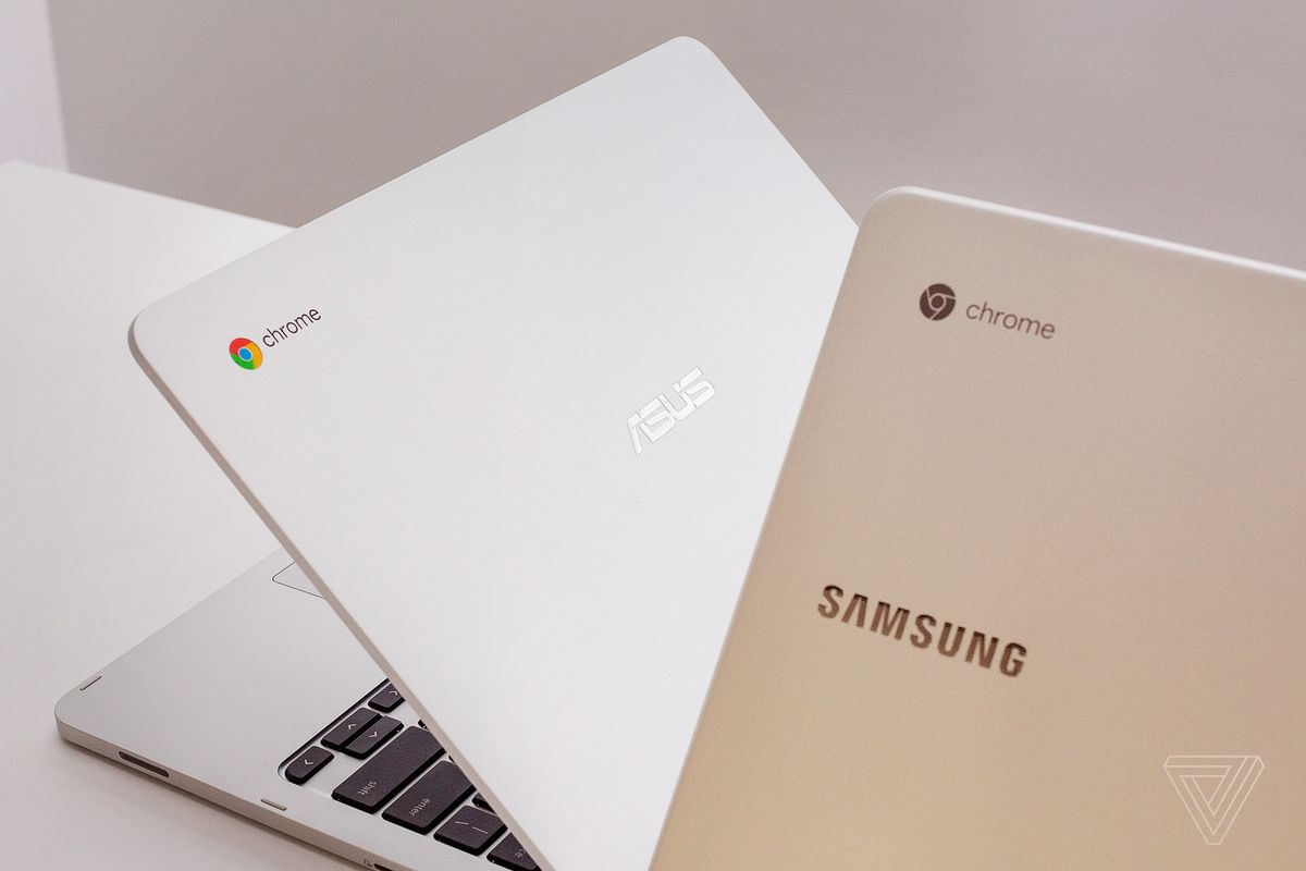 Chromebook with a Google Assistant key and fingerprint