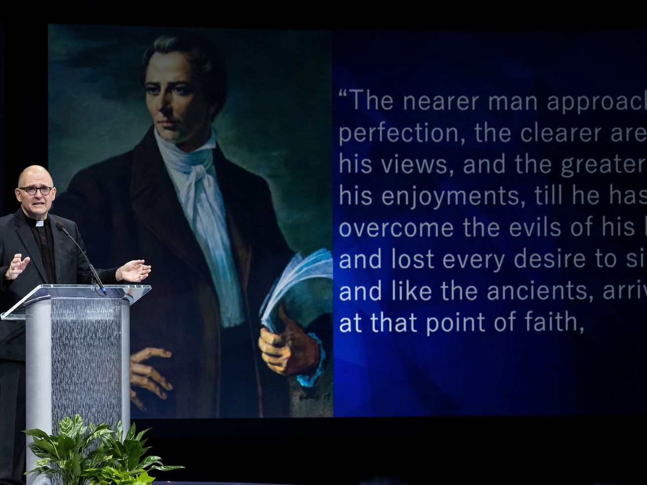 The Rev. Dr. Andrew Teal tells BYU students he will journey with them