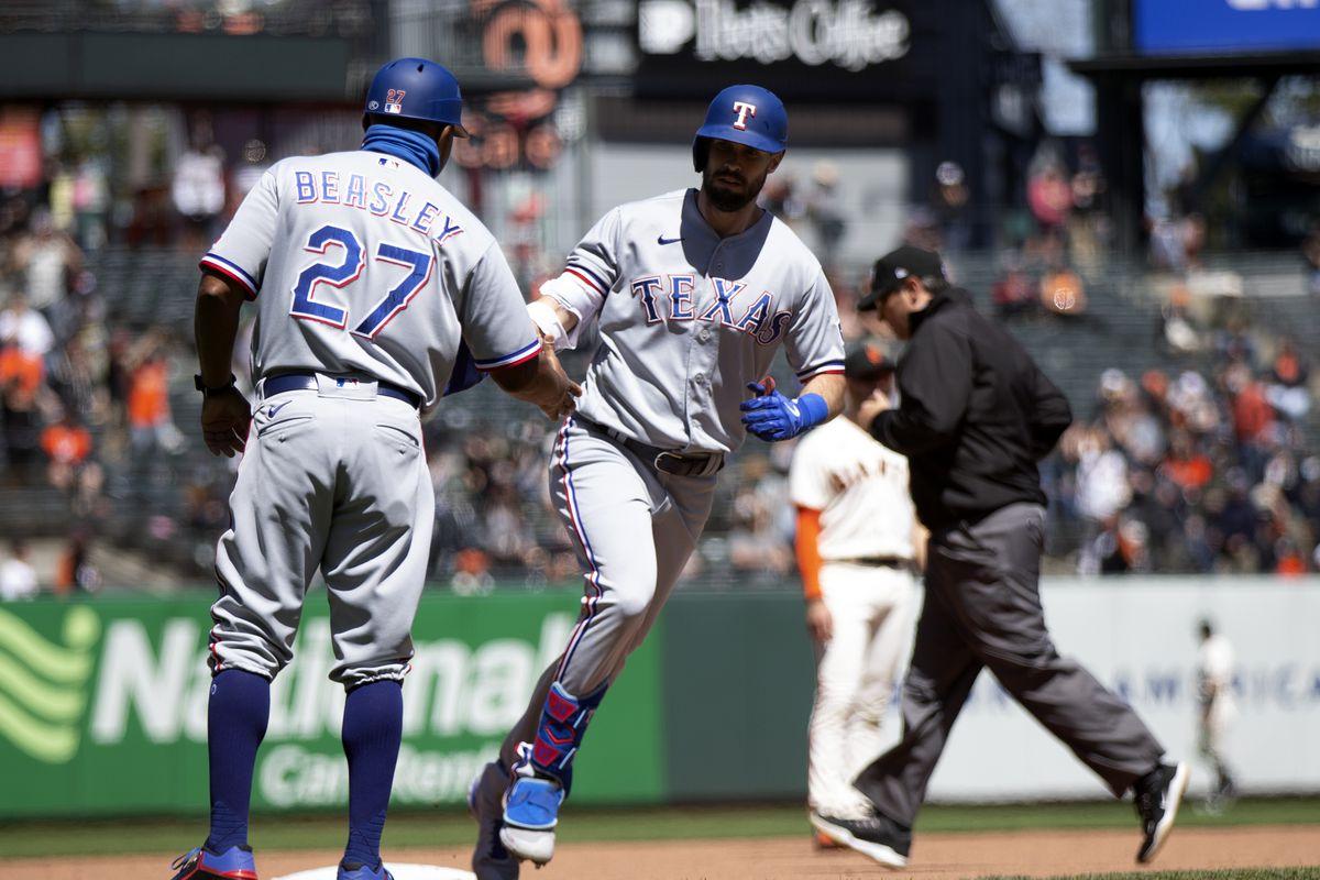 MLB: Texas Rangers at San Francisco Giants