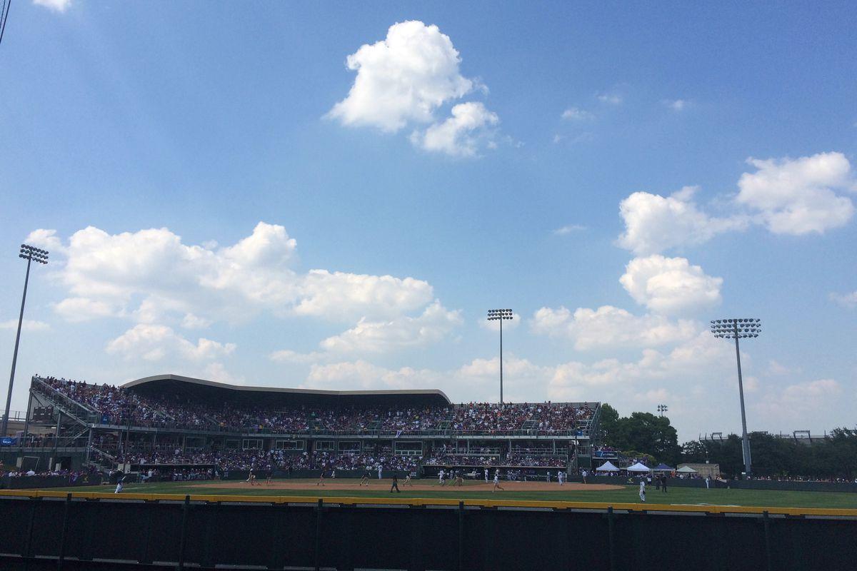 It was a beautiful day for baseball. No matter where you were sitting. As long as you were wearing purple.