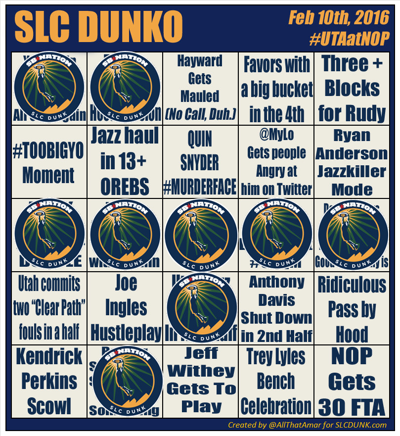 2015 2016 SLC DUNKO Game 52 UTAatNOP 03
