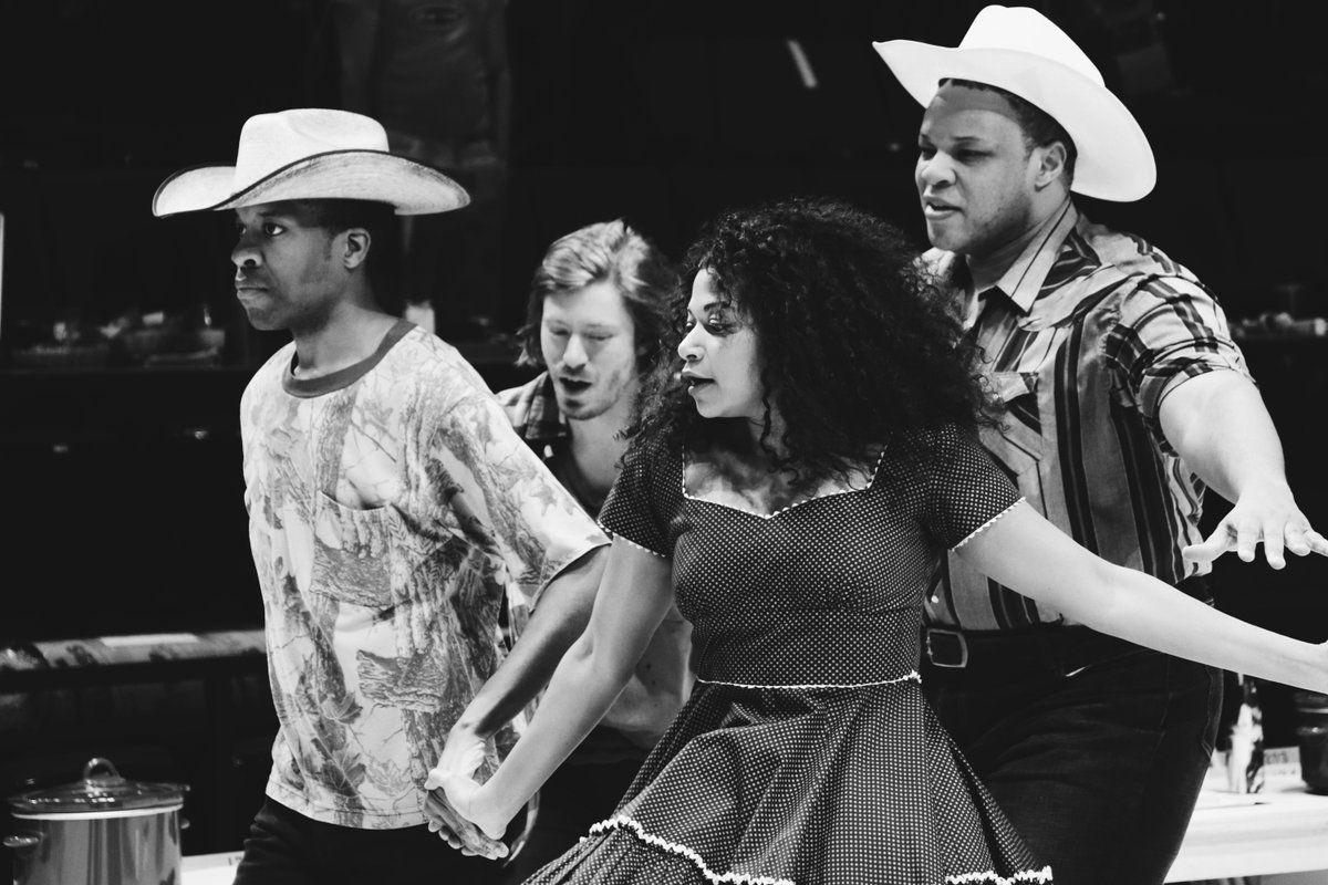Oklahoma! cast dancing