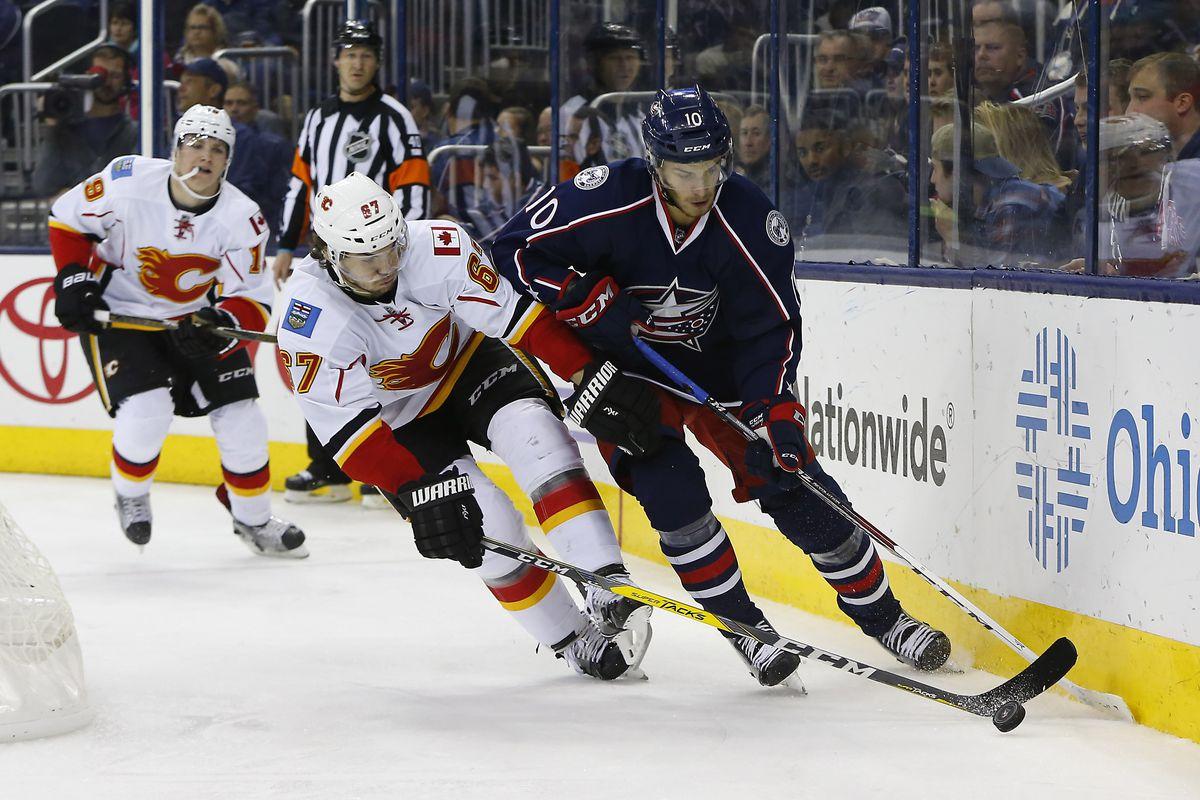NHL: Calgary Flames at Columbus Blue Jackets