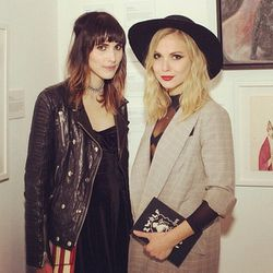 """<span class=""""credit"""">Stylish duo Langley Fox and Z Berg strike <a href=""""http://la.racked.com/archives/2013/04/15/13_super_hot_looks_from_coachellas_coolest_parties.php"""">again</a> at the Cat Art <a href=""""http://la.racked.com/archives/2014/01/27/meow_ten_sn"""
