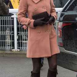 Dressed in a Joseph coat on March 15th, 2013 for Gold Cup Day at the Cheltenham Festival.