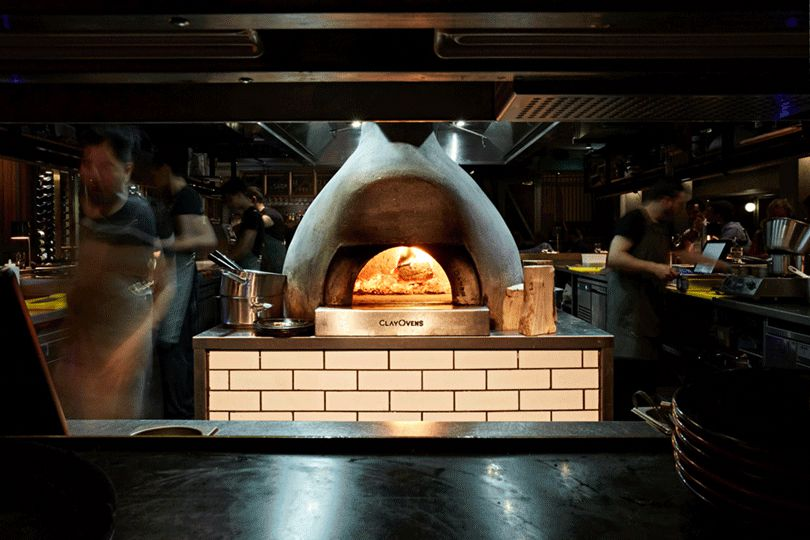 Wood-fired oven at Temper Soho