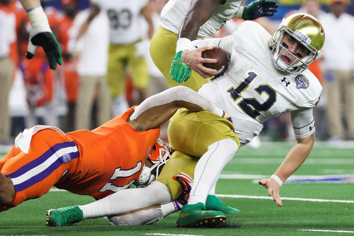 Why Notre Dame Looked So Hopeless Against Clemson Sbnation Com