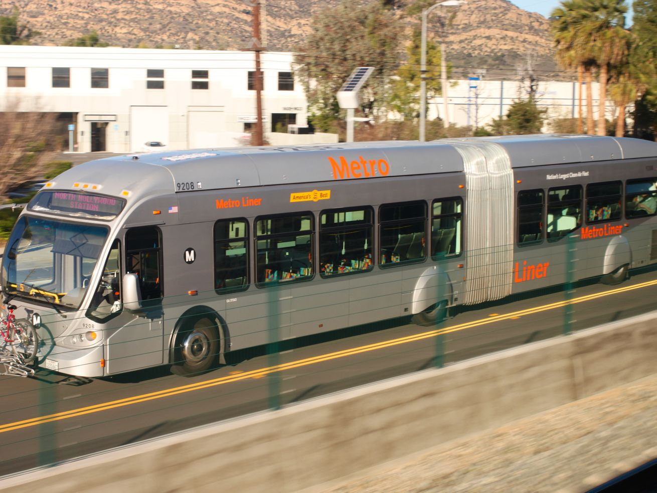The Orange Line runs between North Hollywood and Chatsworth.