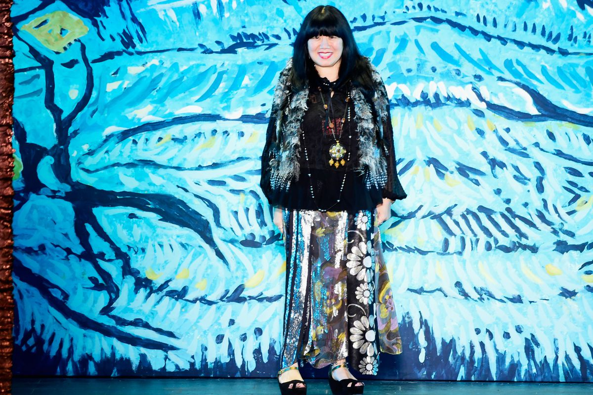 Anna Sui at her NYFW Spring 2016 presentation