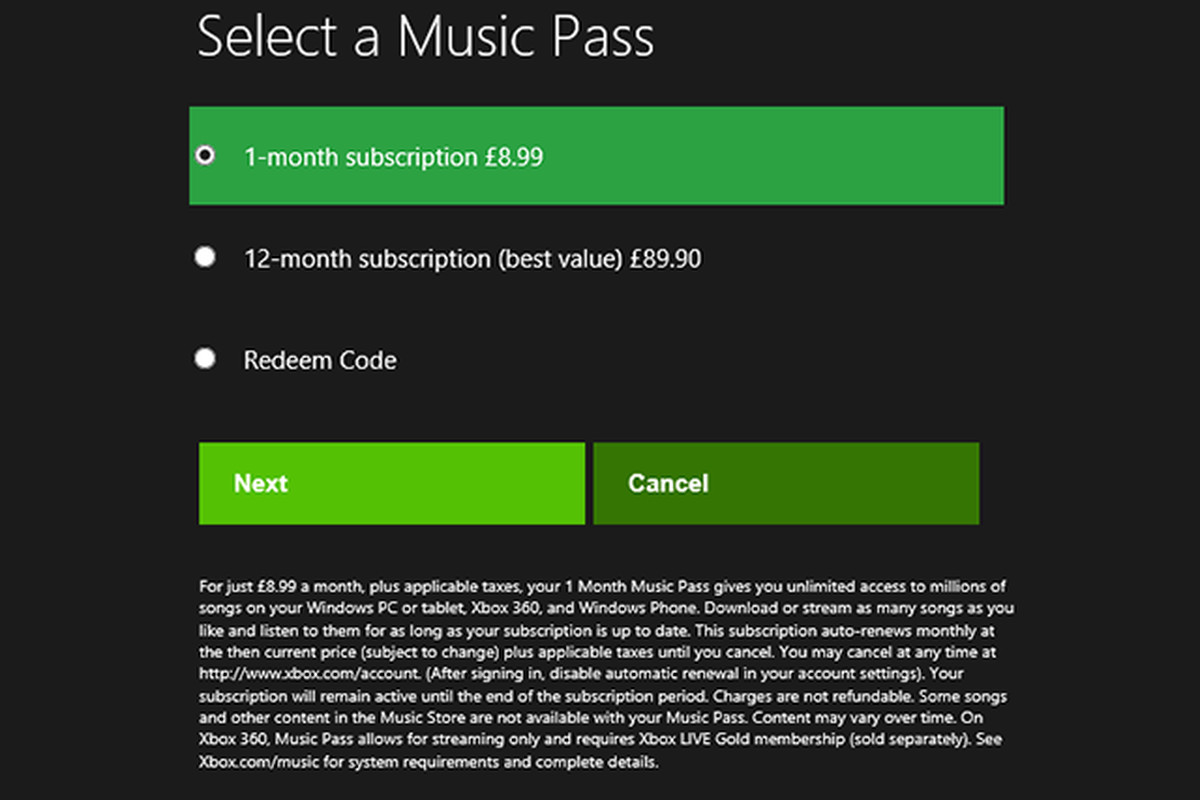 Xbox Music pricing and features revealed through Windows 8 ...