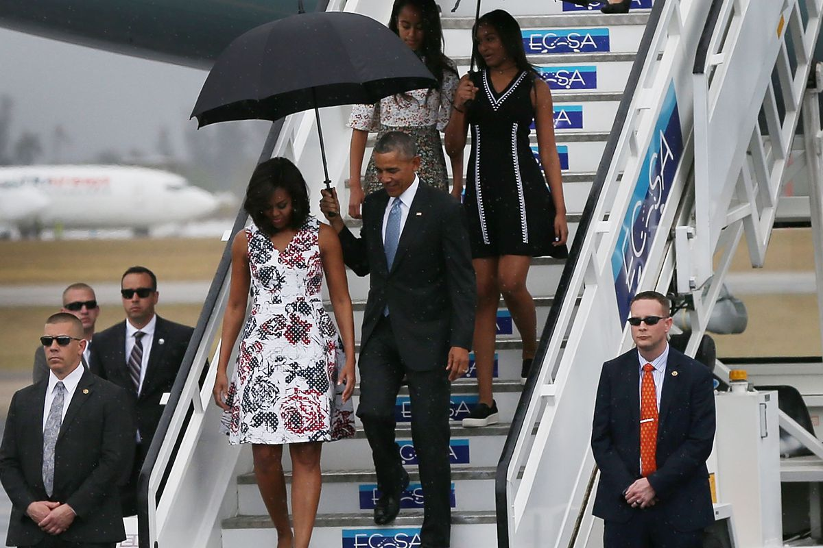 The Obamas touched down in Cuba on Sunday
