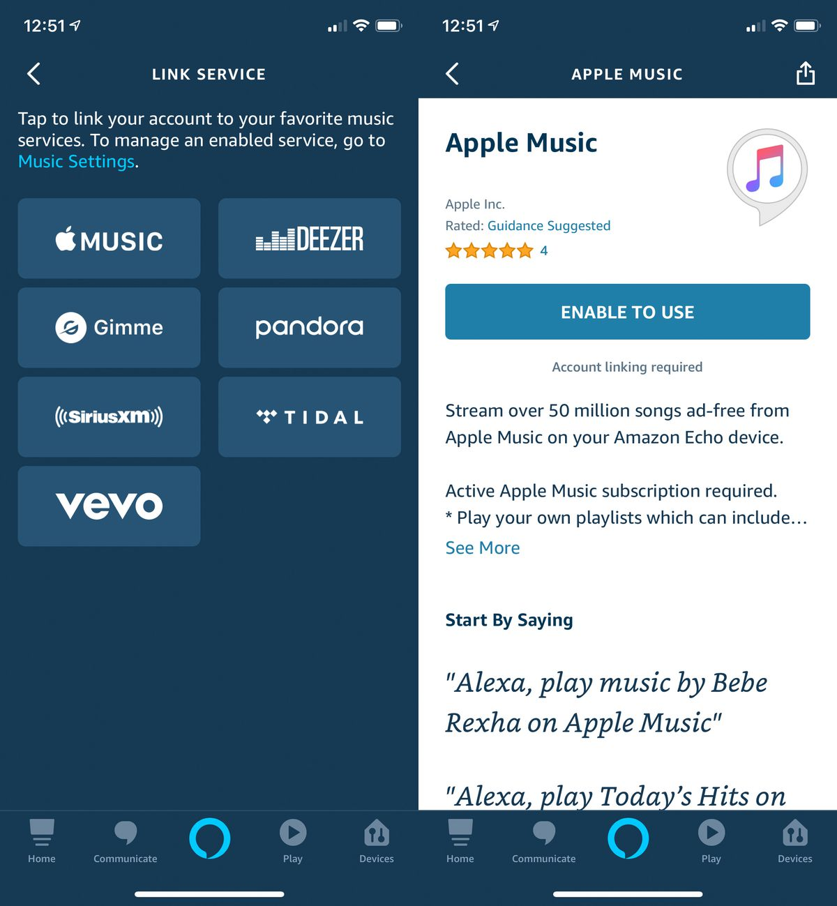 Apple Music Support searching Amazon speakers – neuck