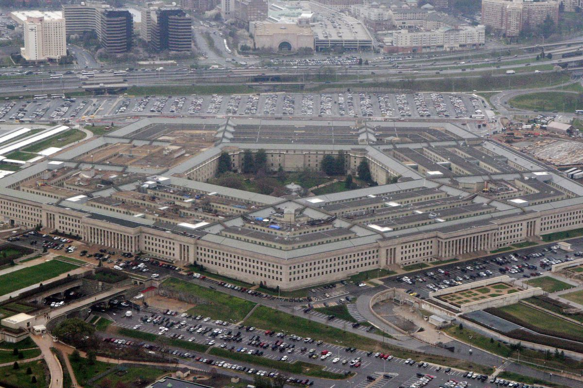"""FILE - In this March 27, 2008 file photo, the Pentagon is seen in this aerial view in Washington. President Donald Trump says he will bar transgender individuals from serving """"in any capacity"""" in the armed forces. Trump said on Twitter Wednesday, July 26,"""