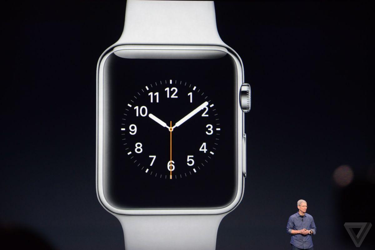 Tim Cook reveals Apple Watch.