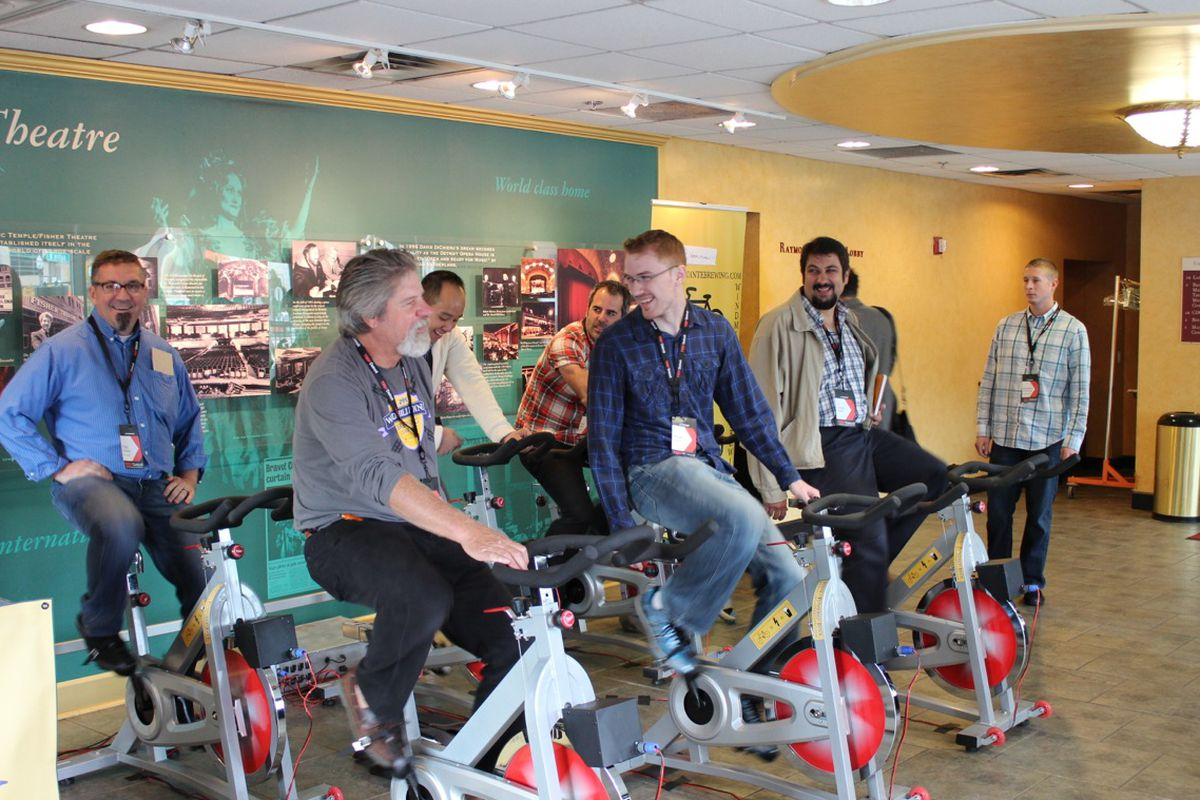 Windmill Pointe demonstrates their brewing and biking concept at TEDx Detroit in September.