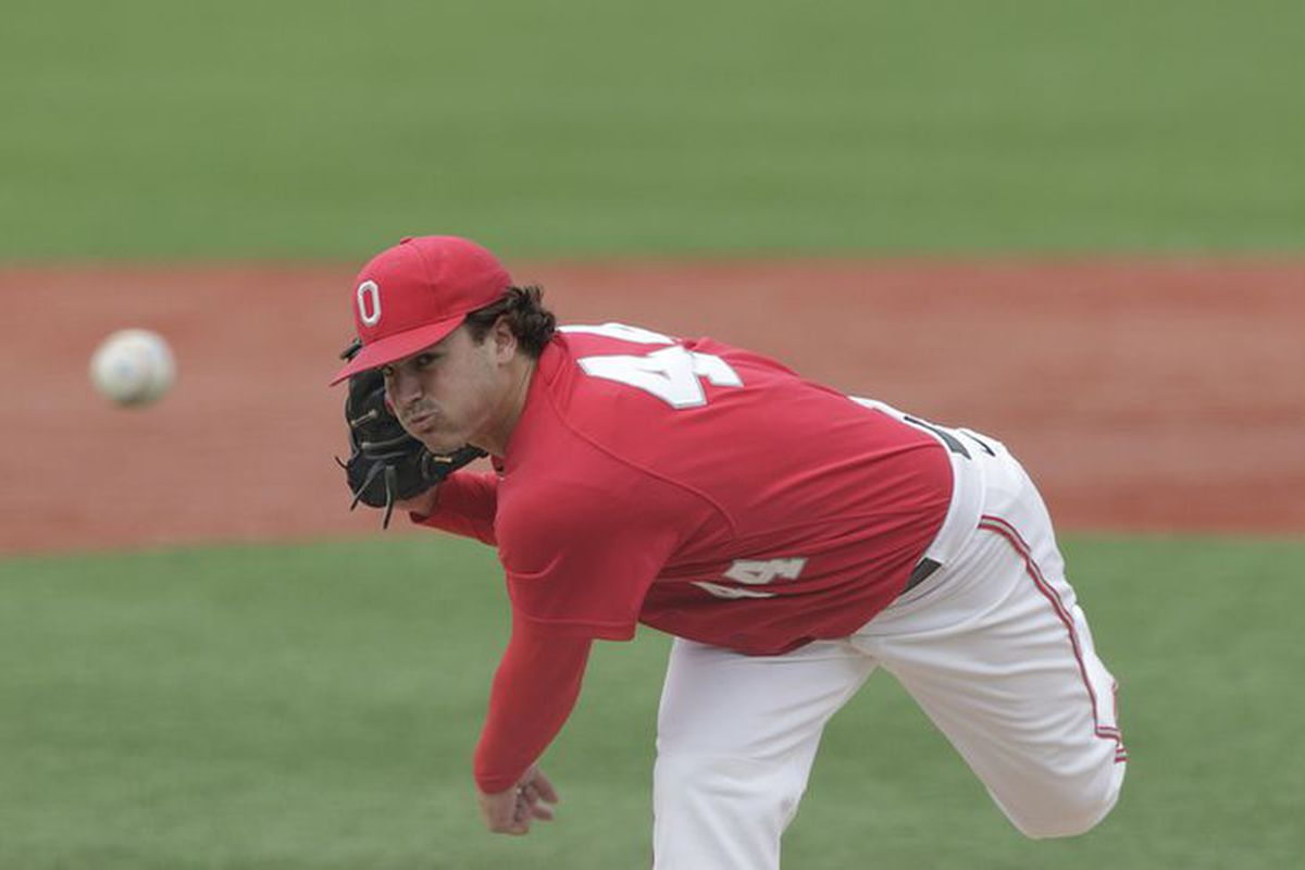 Left-hander Ryan Riga pitched a shutout at Rutgers to run his scoreless inning streak to school-record 29.1 innings