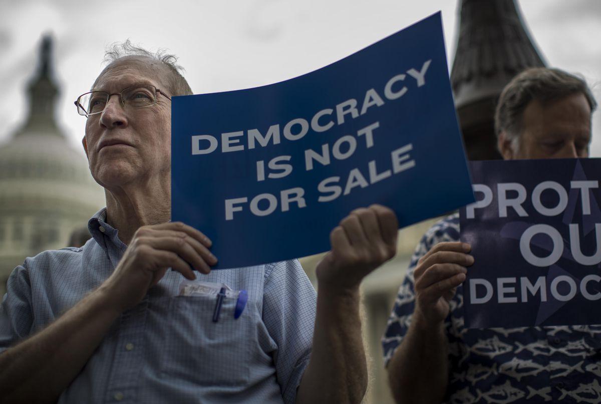 lobbying money protest