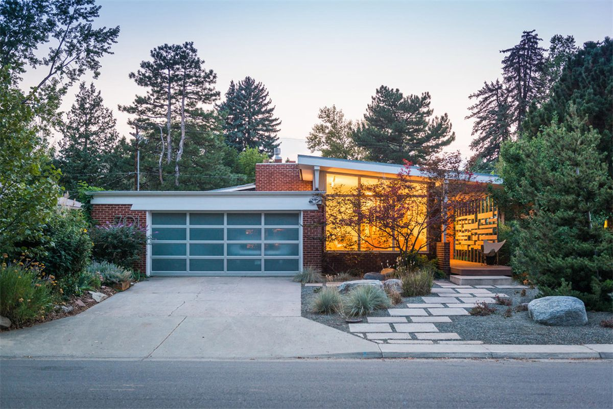 Midcentury modern home with retro orange kitchen asks for Mid century modern homes denver