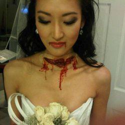 "<a href=""https://twitter.com/#!/KELLYCHOI/status/29332293045"" rel=""nofollow"">Kelly Choi as a murdered bride</a>"