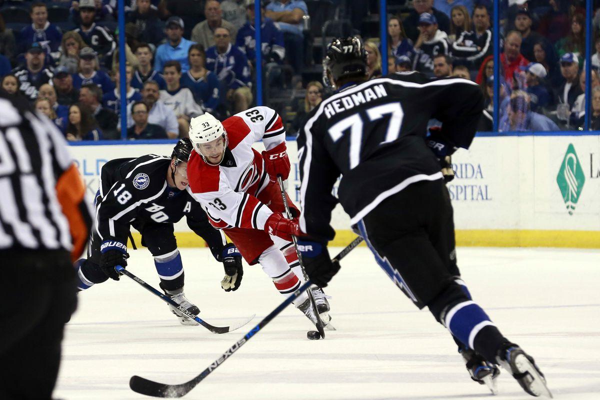 NHL: Carolina Hurricanes at Tampa Bay Lightning