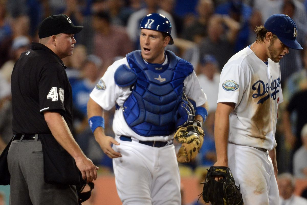 Clayton Kershaw and A.J. Ellis lament what turned out to be the deciding run in Monday night's contest.