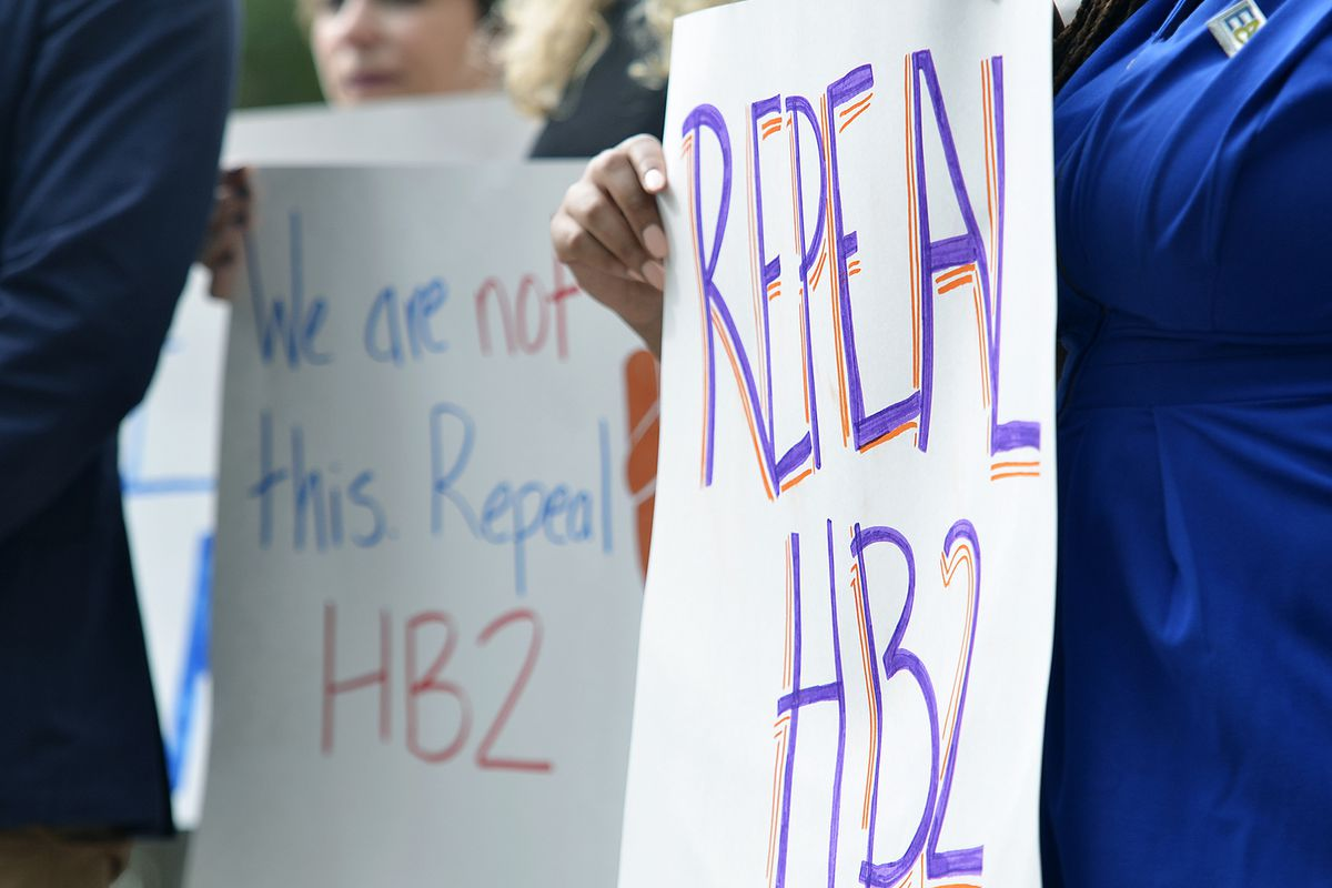 Transgender people and their allies protest for the repeal of House Bill 2 in North Carolina