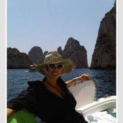 Linda looking chic in Capri.
