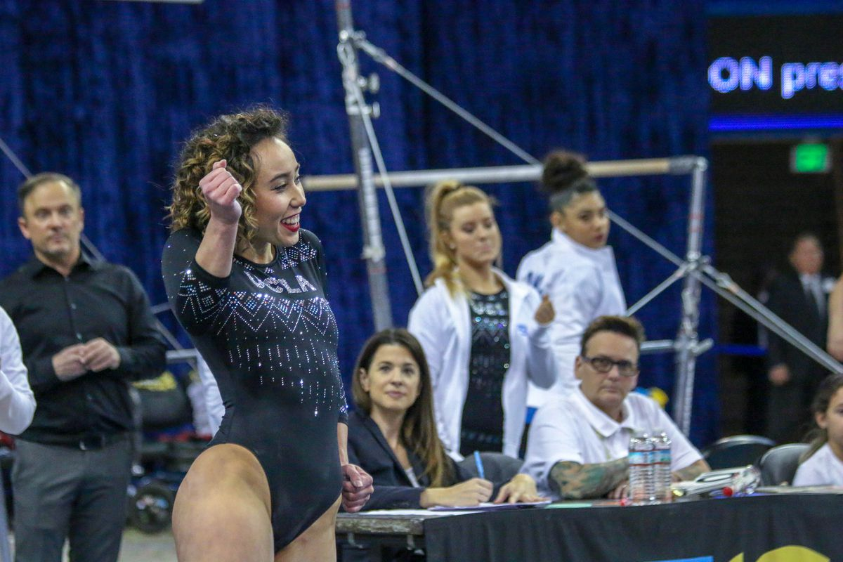 """WATCH: UCLA's Ohashi and Ross Score """"Perfect 10"""" on Floor"""