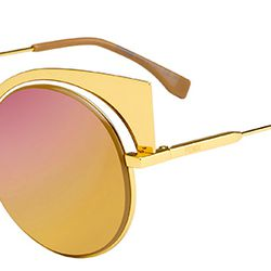 Golden wings take rounded sunnies to new heights.