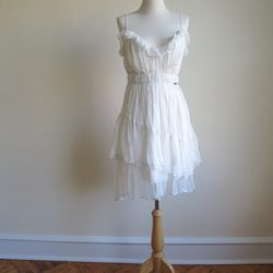 """Vintage ruffled chiffon John Galliano dress, $250 from <a href=""""http://www.etsy.com/shop/TimeLordsVintage"""">Time Lords Vintage</a>"""
