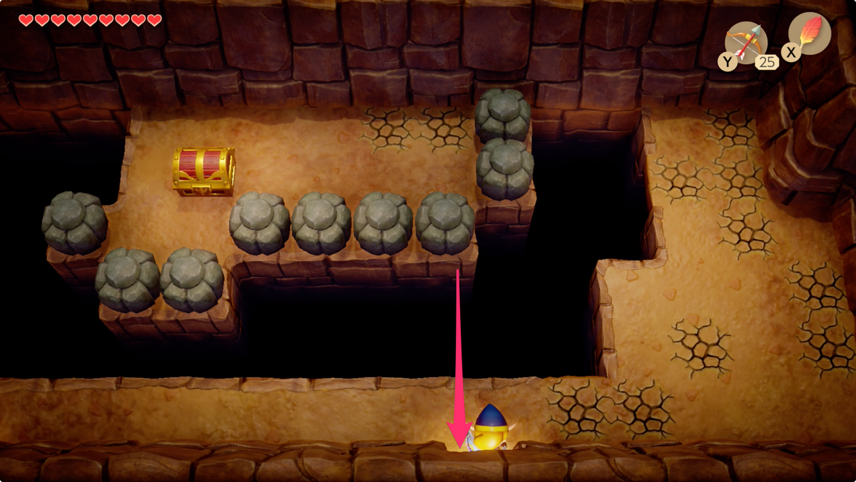 Link's Awakening Tal Tal Heights hard to see exit