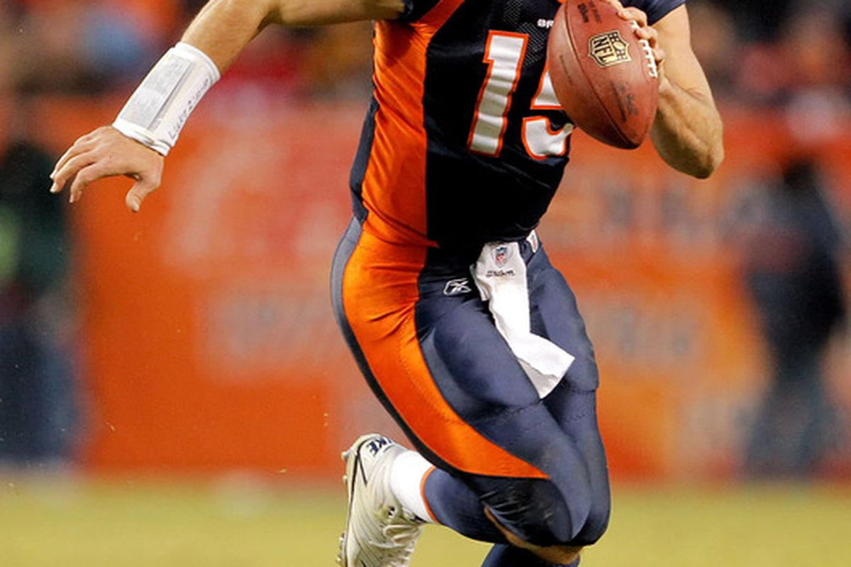 This is Tim Tebow. Don't plan on seeing him this season