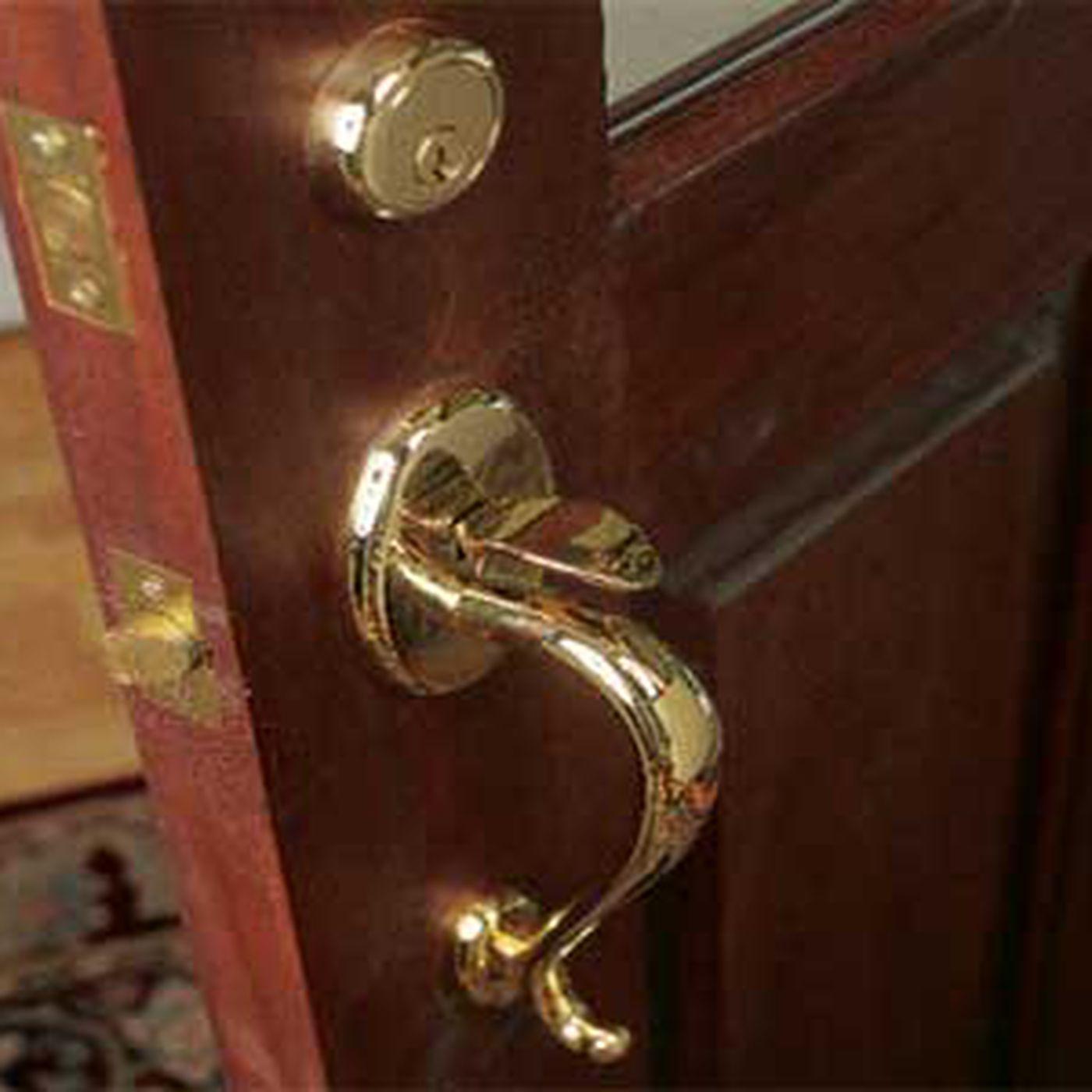 Furniture Lock Economy Flush Mount Lock Set Brass Plated Antique Style