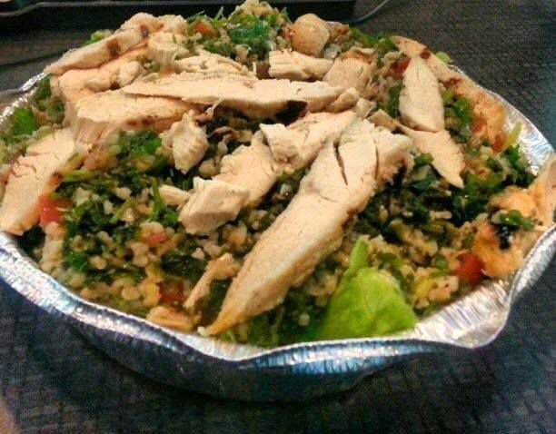 Chicken and tabbouleh from Sami's