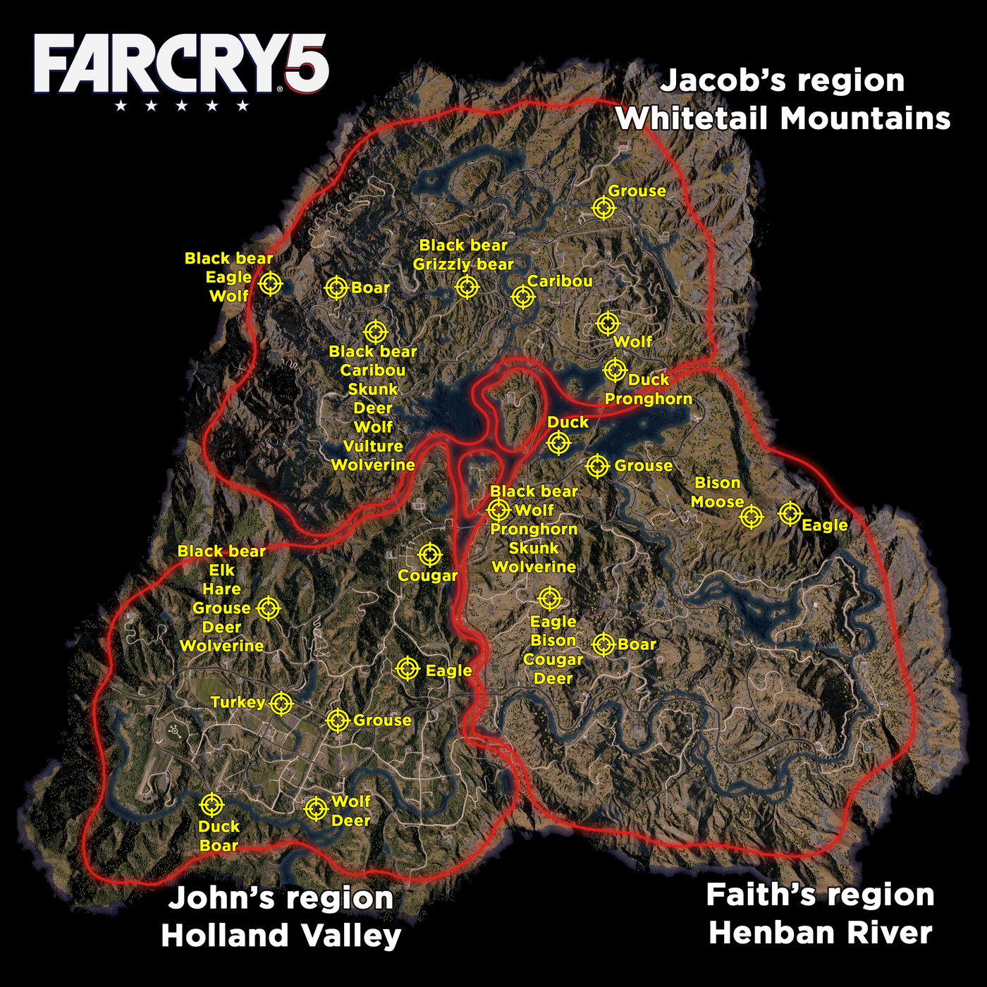 far cry 5 comic book locations map