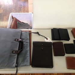 Leather goods, starting at $29