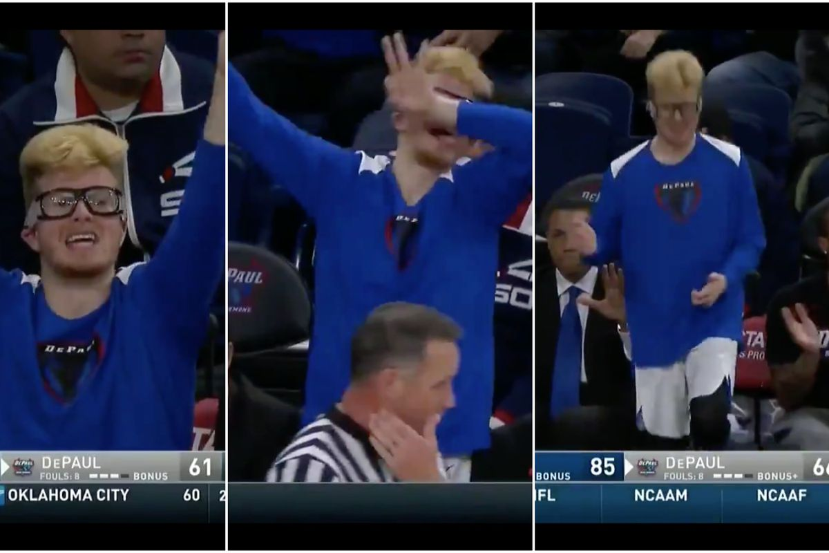 00c4bc4305b3 How DePaul walk-on Pantelis Xidias became college basketball s greatest  hype man