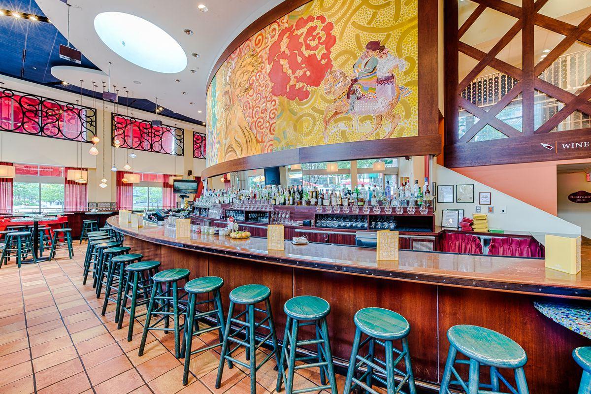 The bar at Jaleo Crystal City