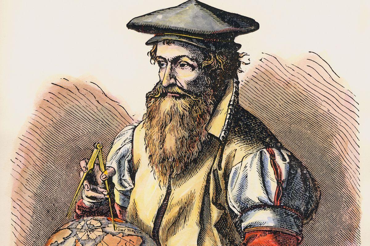 A portrait of Gerardus Mercator.