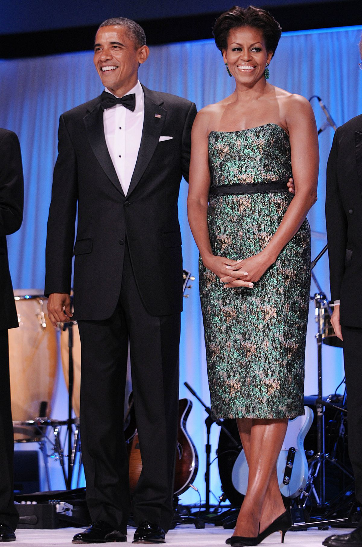Michelle Obama on stage at the Congressional Hispanic Caucus Institute gala in September 2011