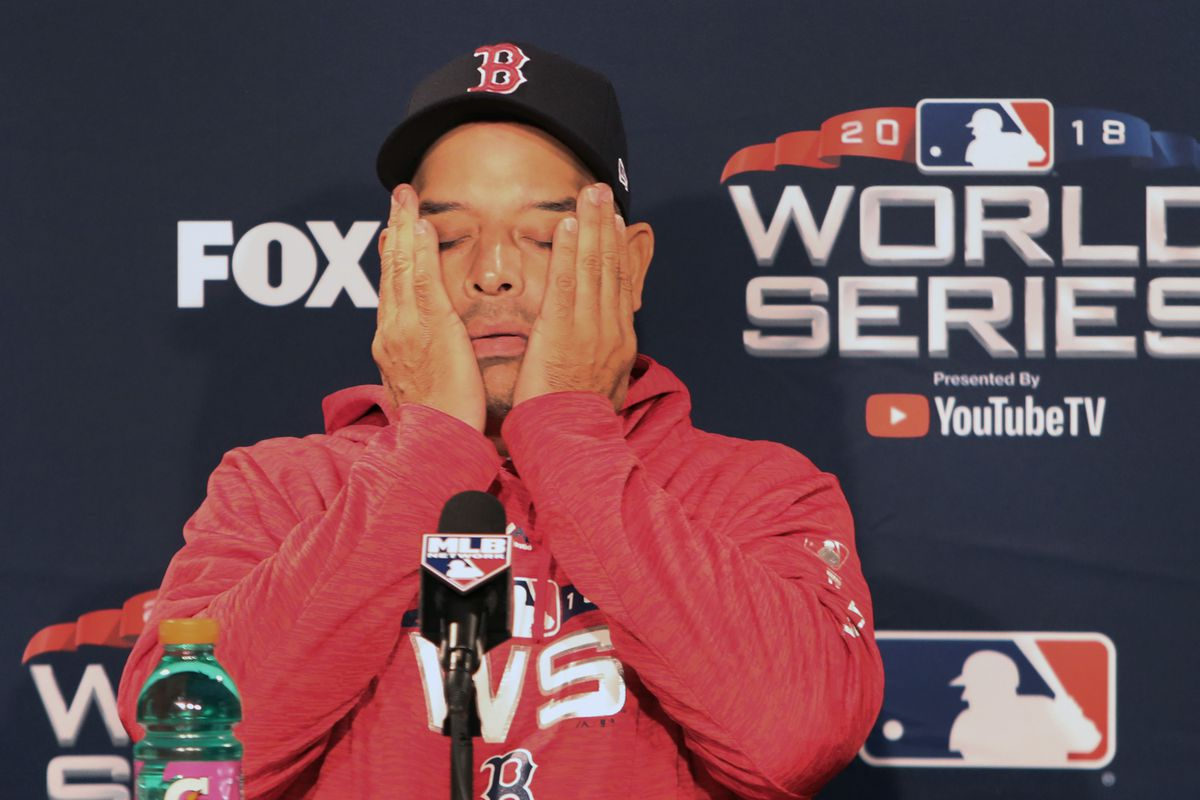 Pre-World Series Workouts And Media Availabilities At Fenway Park
