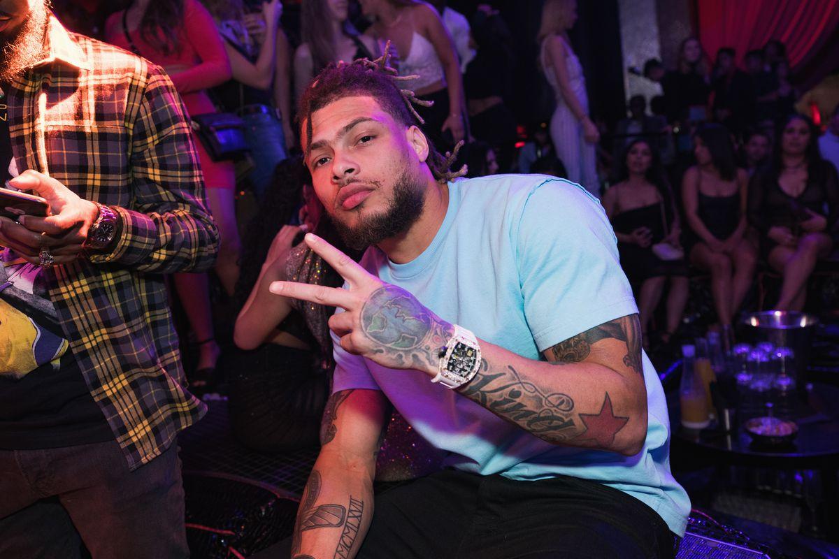Tyrann Mathieu parties at Drai's Nightclub
